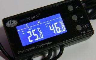 Настройка терморегулятора в инкубаторе
