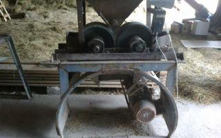 Изготовление самодельной плющилки зерна