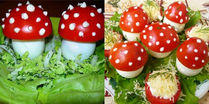 Что можно приготовить из яиц и грибов