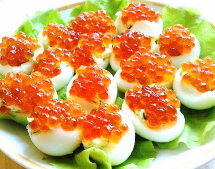 Яйца с икрой