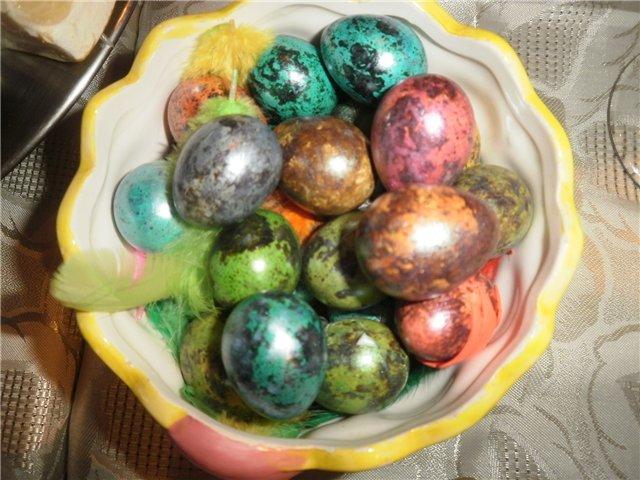Покрашенные яйца