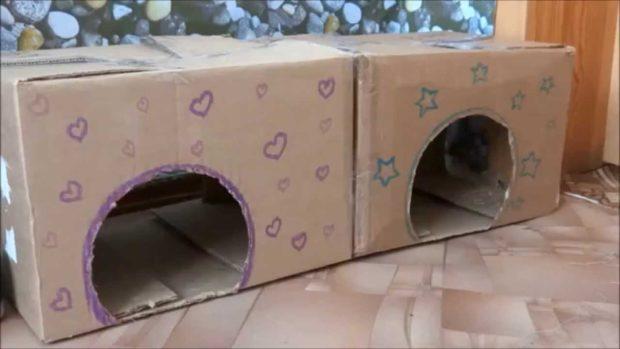Картонные домики для кроликов