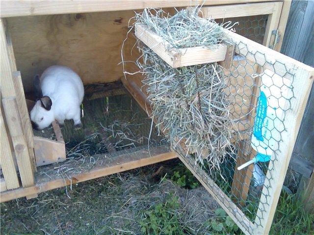 Кормушки из сетки для кроликов своими руками