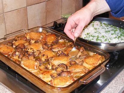 Павлин с каштанами - блюдо французской кухни