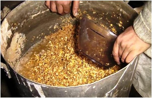 Приготовление влажной зерновой мешанки