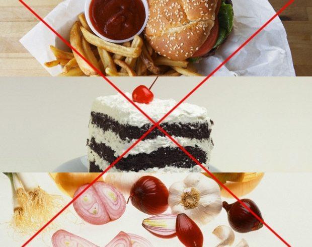 Запрещенная еда - со стола