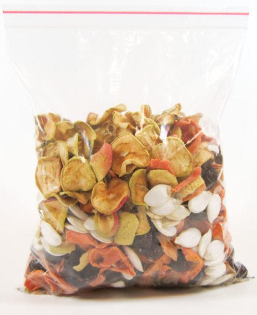 Заготовка сухофруктов без сахара для шиншилл