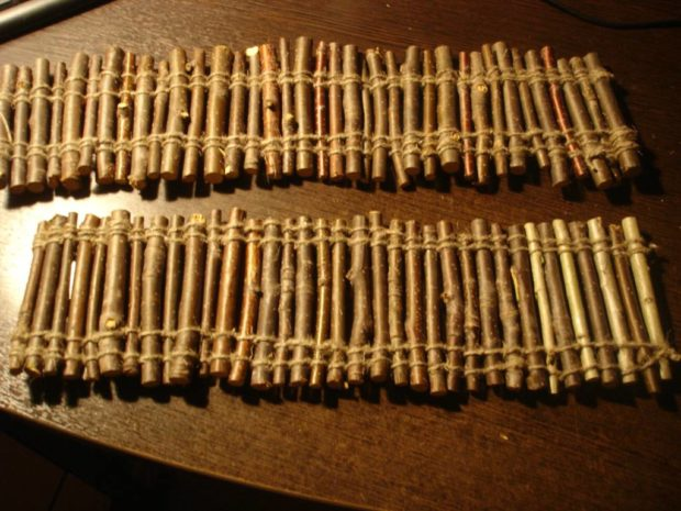 Лесенка из веточек для шиншиллы