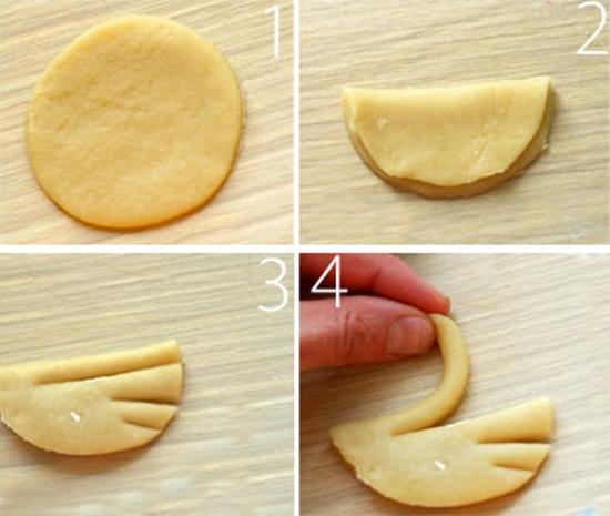 Как сделать из теста лебеди
