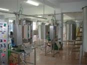 Линия молокопереработки на заводе