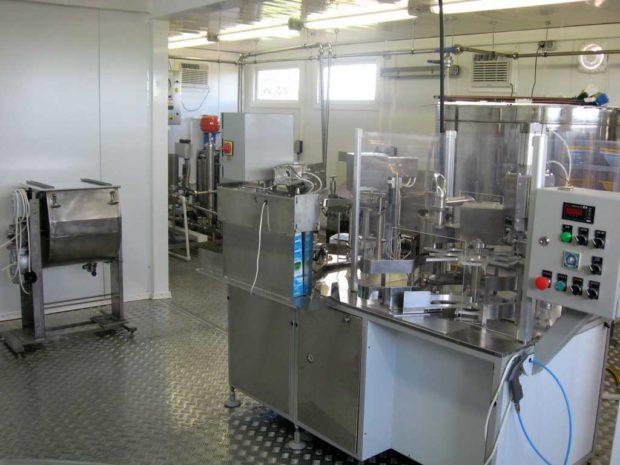 Молочный цех на заводе