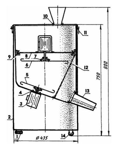 Схема дробилки из стиралки