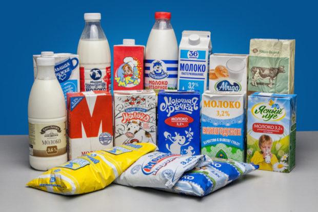 Молоко от разных производителей