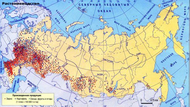 Карта с/х культур