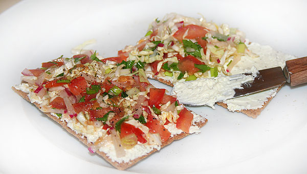 Гречневые хлебцы для похудения с овощами