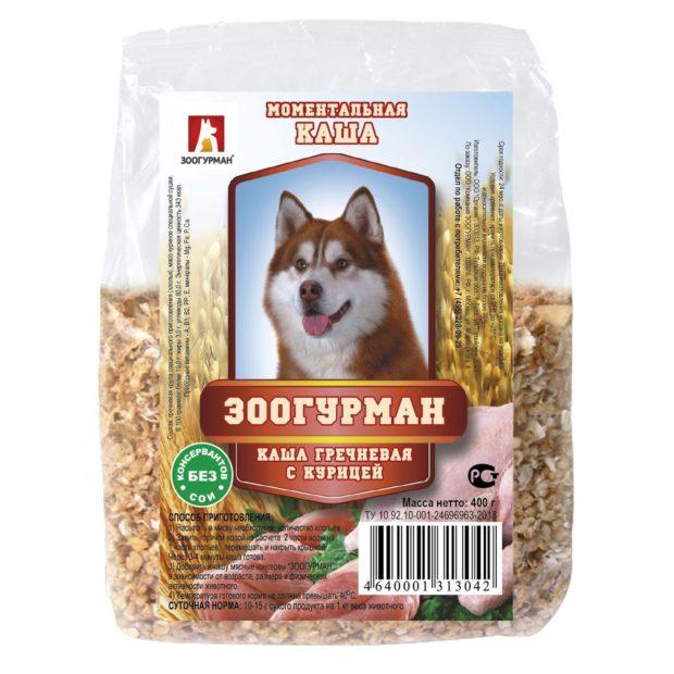 Каша для собак быстрого приготовления