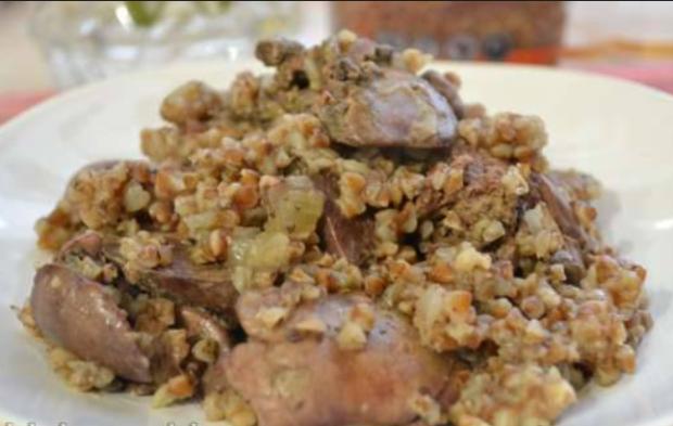 Ржаная каша с мясом