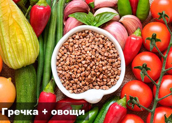 Гречка с овощами диета