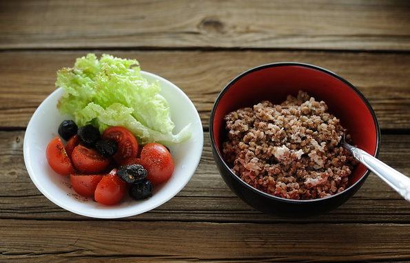 Гречка и овощи для похудения