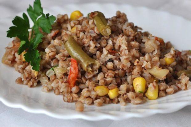 Гречка с итальянской овощной смесью