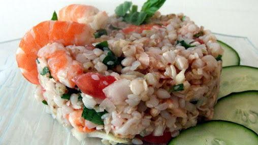 Калорийность гречки с морепродуктами