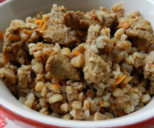 Калорийность гречки с мясом