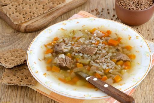 Гречневый суп с мясом калорийность
